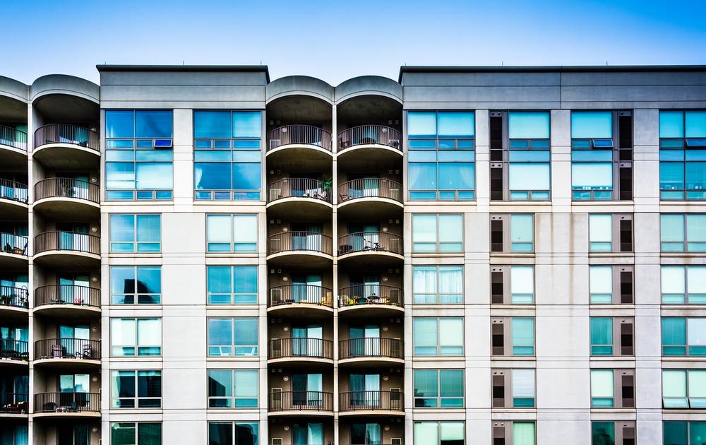 Apartment building in Philadelphia, Pennsylvania.